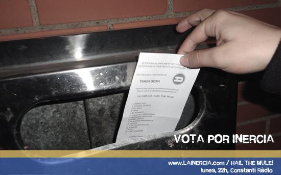 Vota por inercia